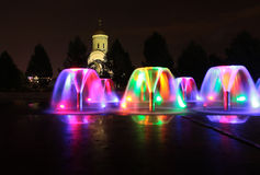 Bow Hill Victory park Moscow by night Stock Photography