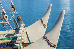 Bow of the Hokulea 1 Stock Photography