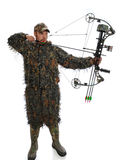 Bow hunter in action Royalty Free Stock Photo