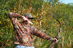 Bow hunting Royalty Free Stock Photos