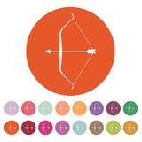 The bow icon. Bow symbol. Flat Stock Photos