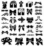 Bow icon set Royalty Free Stock Photography