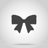 Bow icon on white background vector Stock Image