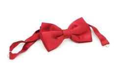 bow isolerad röd tie Arkivbild