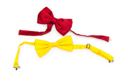 bow isolerad röd tie Arkivbilder