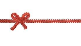 bow isolerad röd white Royaltyfri Bild