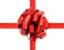 bow isolerad röd white Royaltyfri Fotografi