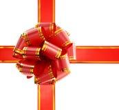 bow isolerad röd white Fotografering för Bildbyråer