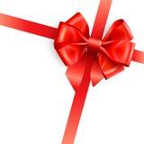 bow isolerad röd white Royaltyfri Foto