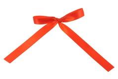 bow isolerad red Fotografering för Bildbyråer