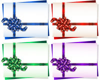 Bow Knot Ribbon Frame Gift Background Set. Bow with a ribbon on a gift card frame; Vector set Eps10; Bow-knot version A Stock Photo