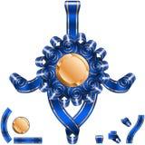 Bow Knot Ribbon Solemnity Blue Set Stock Photo
