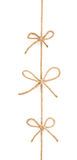 Bow knots on a string isolated Stock Images