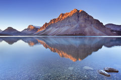 Bow Lake along the Icefields Parkway in Canada Stock Images