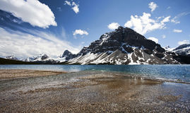Bow Lake, Banff. Stock Photo