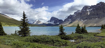 Bow Lake, Banff National Park, Alberta, Canada Royalty Free Stock Photos