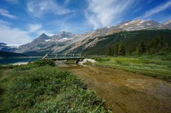 Bow Lake in Banff National Park Royalty Free Stock Photography
