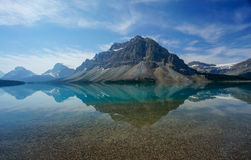 Bow Lake in Banff National Park Stock Photo
