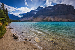 Bow Lake in Banff National Park Royalty Free Stock Images