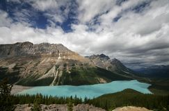 Bow Lake and Bow Mountain Stock Image