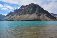 Bow Lake Canada. View on the Bow Lake in Canada Royalty Free Stock Photos