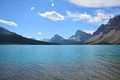 Bow Lake Canada. View on the Bow Lake in Canada Stock Photography