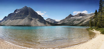 Bow Lake, Canadian Rockies Stock Photo