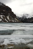 Bow Lake frozen, Alberta, Canada Royalty Free Stock Photography