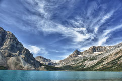 Bow Lake  Icefield highway glacier view Royalty Free Stock Photo
