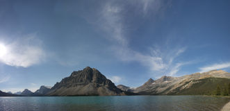 Bow Lake Icefield Park glacier view Royalty Free Stock Photo