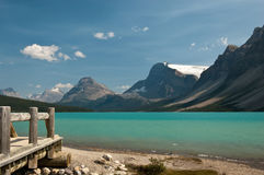 Bow Lake at Icefield Parkway, Alberta, Canada Stock Photography