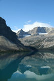 Bow Lake, mountain reflections, Royalty Free Stock Photos