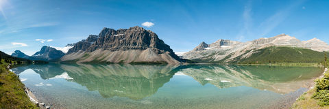 Bow Lake Panorama royalty free stock image