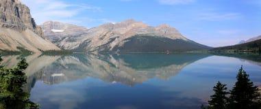Bow Lake Panorama Royalty Free Stock Photos
