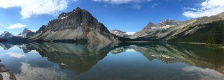 Bow Lake Panorama Stock Photography