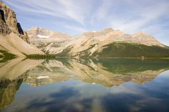 Bow Lake Reflection Royalty Free Stock Photos