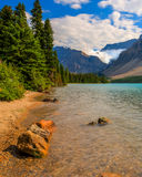 Bow Lake Scenic Landscape. On the Icefields Parkway, Banff National Park, Alberta, Canada Royalty Free Stock Image