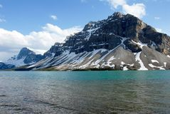 Bow Lake in spring,Canadian Rockies,Canada Royalty Free Stock Photo