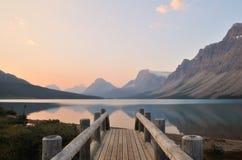 Bow Lake sunrise, Banff National Park Royalty Free Stock Image