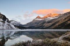 Bow Lake sunrise, Banff National Park Stock Image