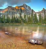 Bow Lake on sunrise Royalty Free Stock Images