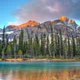 Bow Lake on sunrise Royalty Free Stock Photos