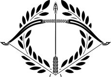 Bow and laurel wreath Stock Images