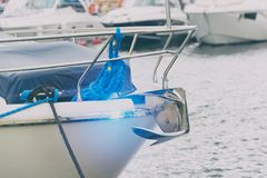 Bow of luxury boat Royalty Free Stock Photo