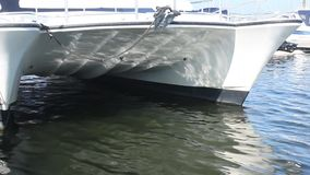 Bow at luxury boat stock video