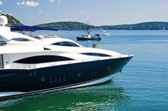 Bow of luxury yacht Royalty Free Stock Image