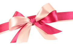 Bow made of Pink Ribbons Royalty Free Stock Photo