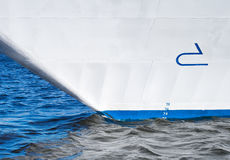 Bow of modern cruise ship Royalty Free Stock Photo