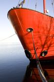 Bow of a Moored Light Boat Royalty Free Stock Image