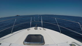 Bow Of Motorboat During Navigation stock video footage